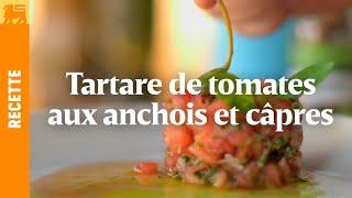 Tartare de tomates aux anchois et câpres