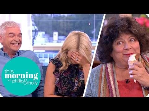 Miriam Margolyes Goes to Town on an Ice Cream During Her   This Morning