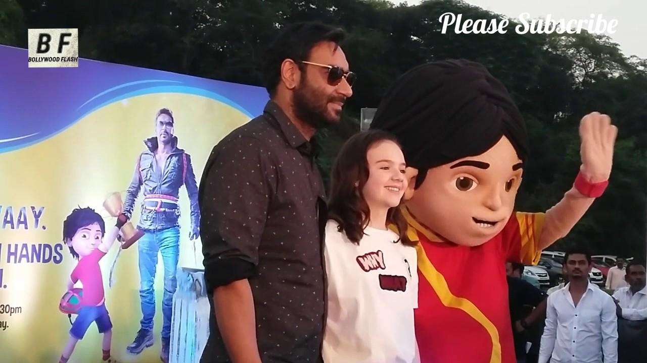 Shivaay Success Celebration 2016 | Ajay Devgan With Shiva Cartoon