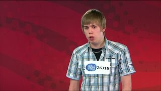 Peter Jihde snor en guldbiljett till supernervösa Andreas i Idol 2008 - Idol Sverige (TV4)