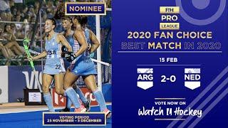 Argentina v Netherlands | Match 16 | Women's FIH H...