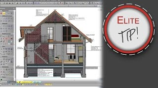 EliteCAD Tips & Tricks - Tworzenie przekroju w perspektywie z opisem 2D.