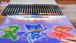 How To Paint with Pj Mask Coloring Learn Color