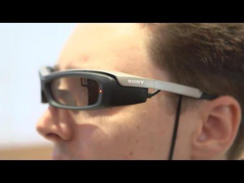 820c9c414e1 Sony s smart glasses take on Google glass (hands-on) - YouTube