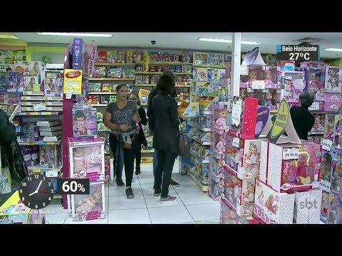 Comércio aposta em promoções para o Dia das Crianças | SBT Brasil (11/10/17)