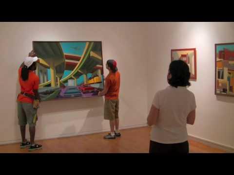 Agora Gallery, Chelsea NYC, Art Gallery Video. Art Installation Demonstration.
