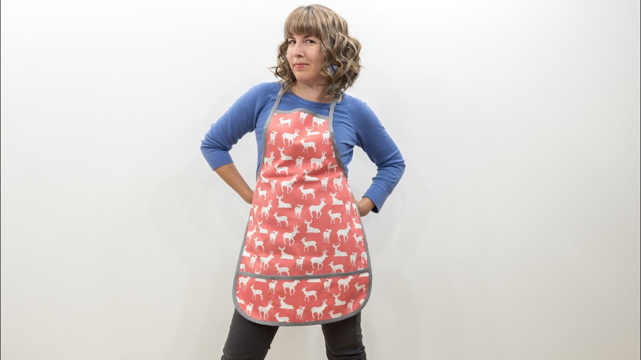 How To Sew A Full Apron Youtube