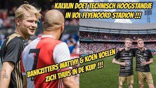Kalvijn doet technisch hoogstandje in vol Feyenoord stadion. Matthy & Koen voelen zich thuis.