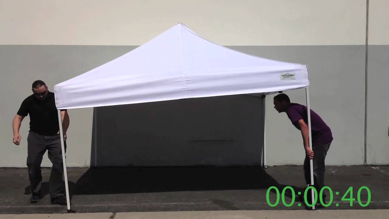 How To Setup u0026 Put Away A Caravan Canopy (In less than 2 minutes!) - YouTube & How To Setup u0026 Put Away A Caravan Canopy (In less than 2 minutes ...