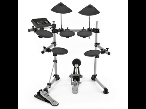 Yamaha dtx500 electric drum set review youtube for Electric drum set yamaha