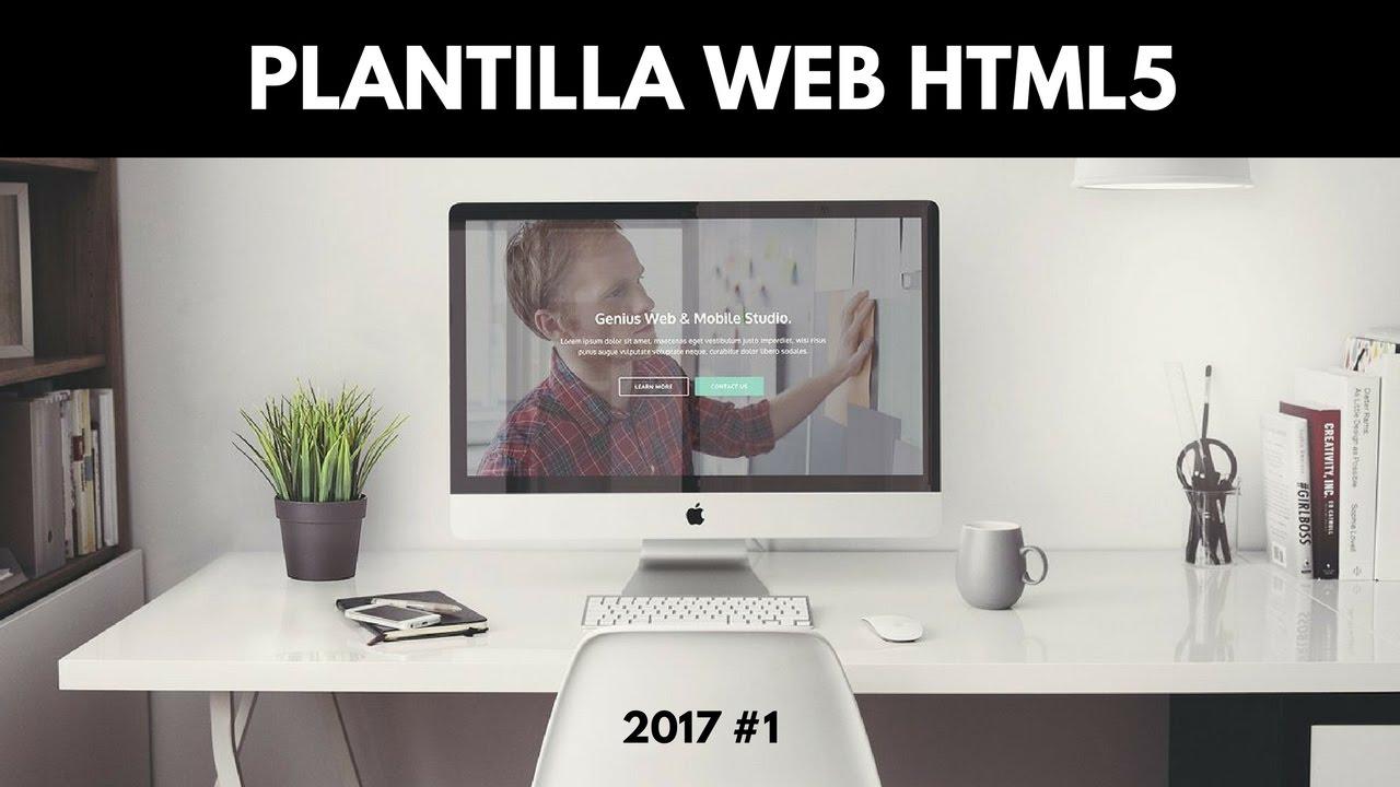 Diseño #1 | Plantilla Web Html5 Responsive Gratis 2017 - Descarga ...