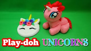 How to make super cute and easy play-doh unicorns 2 styles