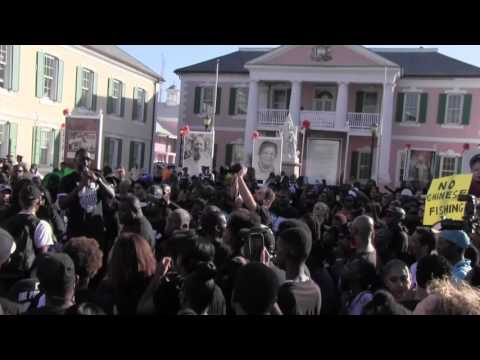 Highlights from the Bahamas Black Friday March to Rawson Square.