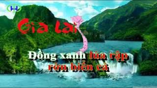 KARAOKE Việt Nam quê hương tôi - Beat chuẩn
