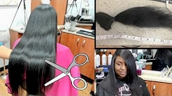 Silk Press on Thick hair! BIG CHOP! 14 INCHES GONE!