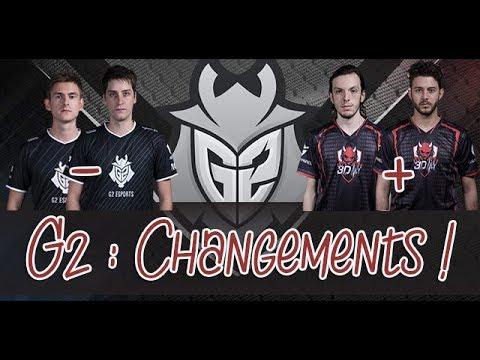 CS:GO G2 : Ex6 et SmithZz remplacés par Jackz et Lucky  Vers une 4ème lineup FR ?