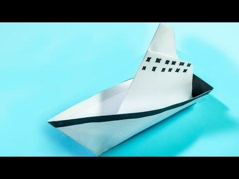 Paper Crafts for kids: Sea Ship Boat | Making Steamship | CraftiKids #9
