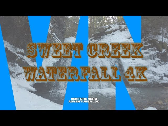 Sweet Creek Waterfall 4K - North East Washington