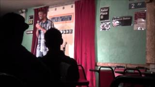 Comedian Jeff Ford performing at Eastville Comedy Club