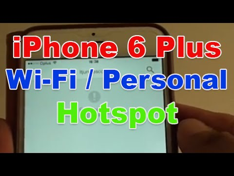 How to connect hotspot on iphone 6 plus