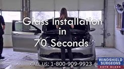 Windshield Replacement In 70 Seconds