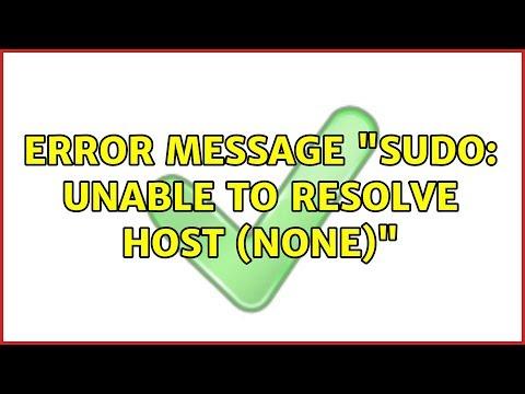 Ubuntu: Error message