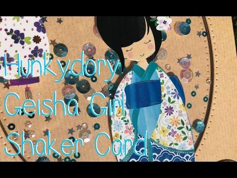 Hunkydory Geisha Girl Shaker Card