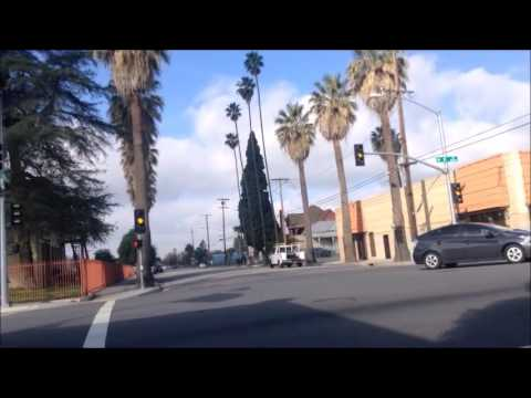 Bicycling Downtown San Bernardino, California; Rode down some Route 66
