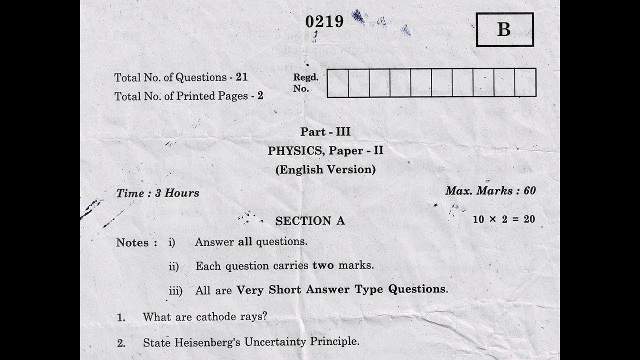intermediate 2nd year previous exam papers