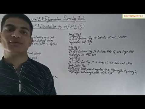 Class 10 Fit Chapter 5 Introduction To HTML