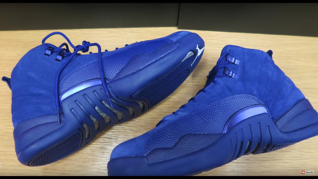c2390925120e93 AIR JORDAN 12 SUEDE DEEP ROYAL BLUE REVIEW + FAKE YEEZYS AT THE MALL!  WTF!