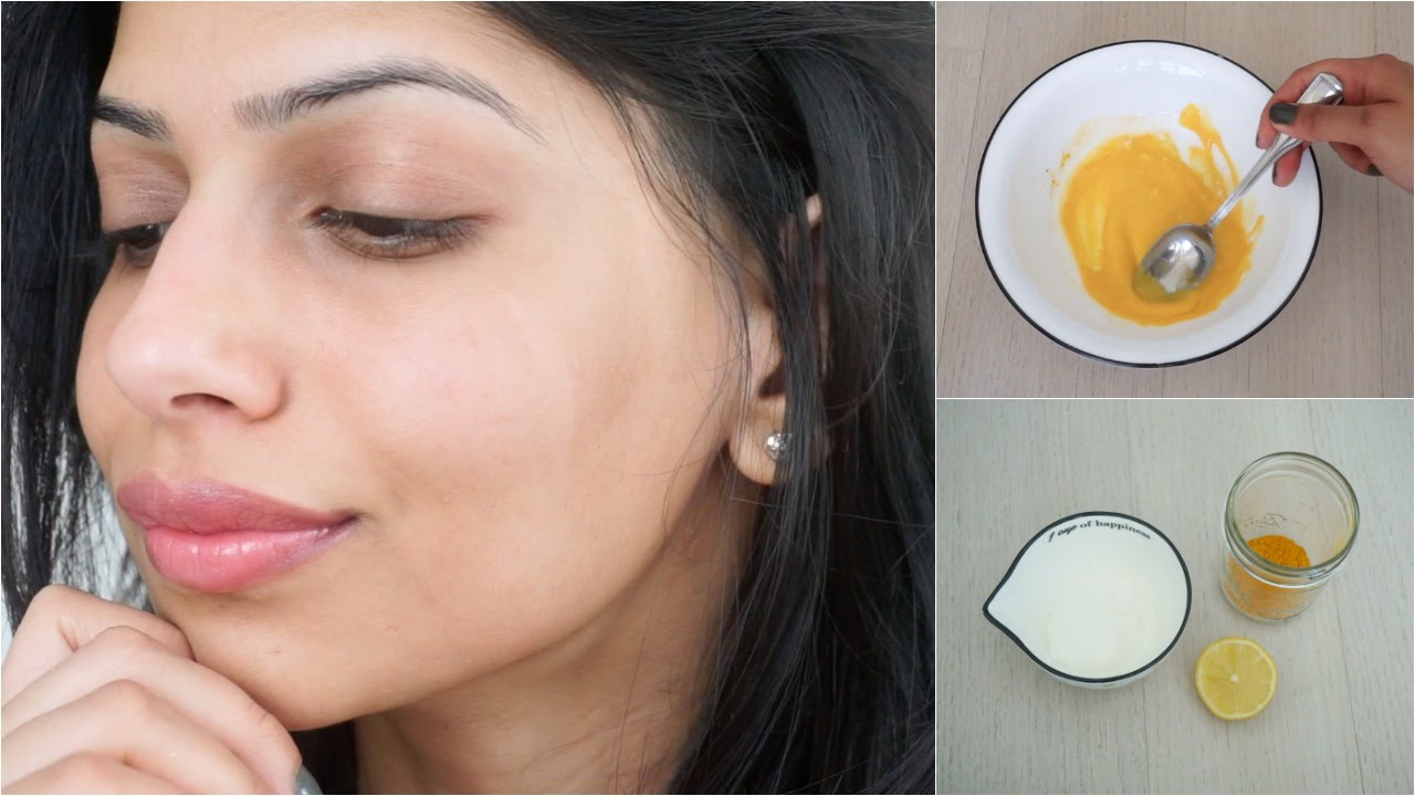 yogurt and lemon for face