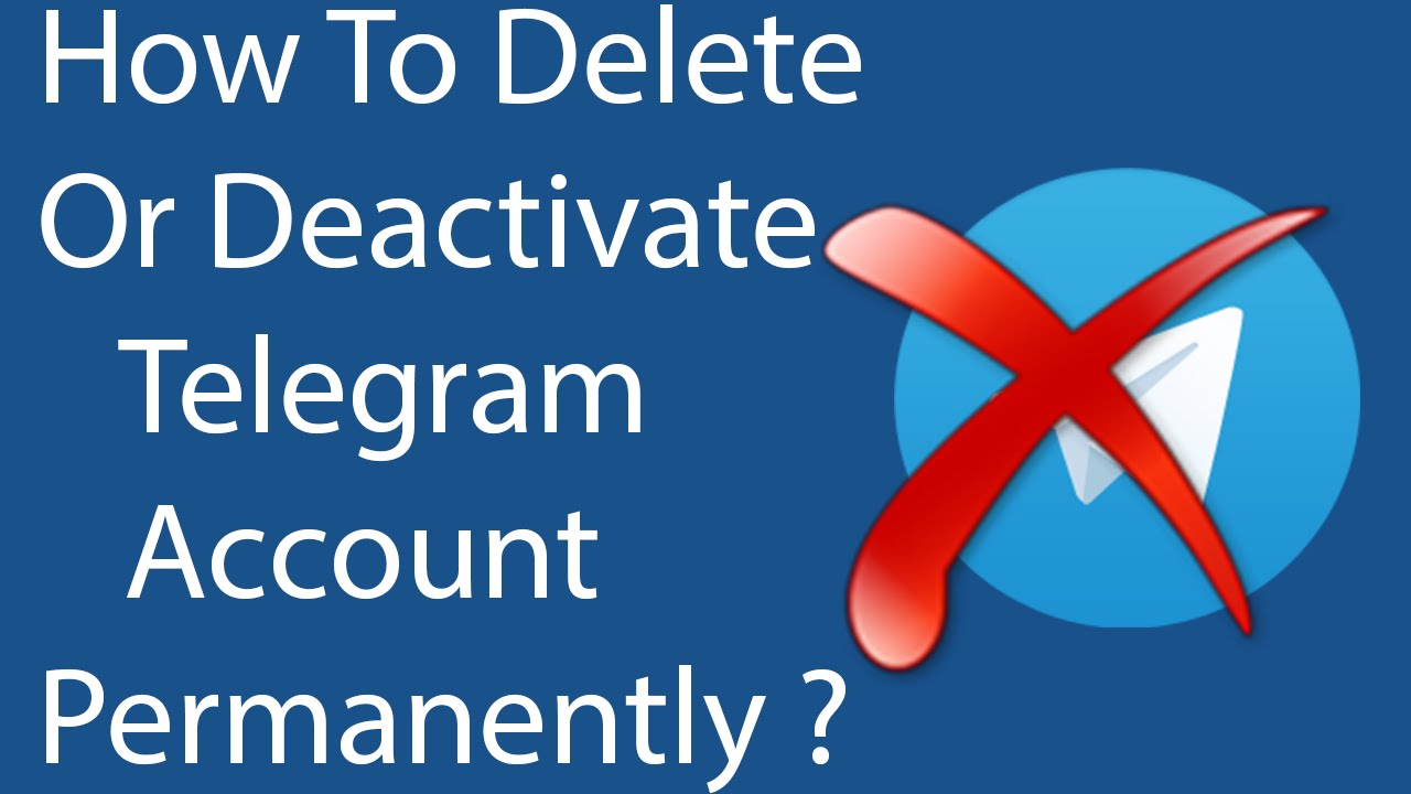 How to delete an account in the Telegram