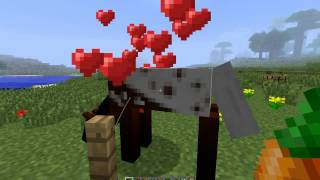Simply Horses 1.5.2 Mod for Minecraft- How to tame, breed, ride, and attach the to a wagon and vardo