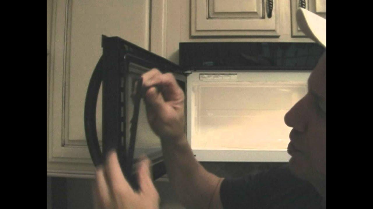 broken microwave door