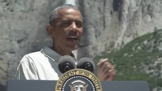 Mr. President Goes to Yosemite