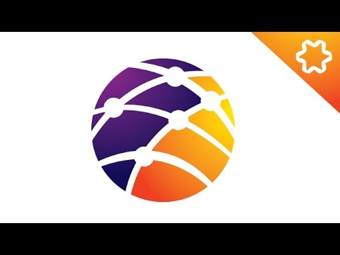 Adobe illustrator CC Tutorial / Logo Design illustrator / Circle Gradient Logo Design / Simple Logo