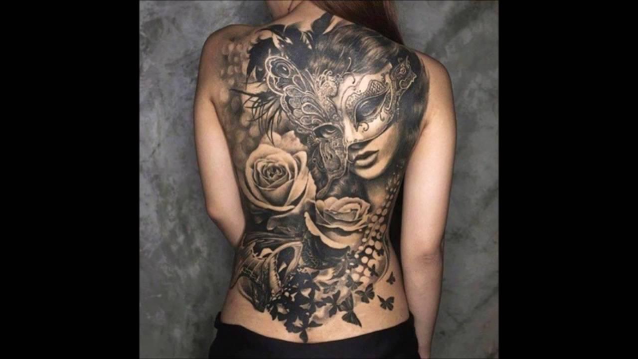 Tatuajes Grandes Para Mujer En La Espalda Youtube