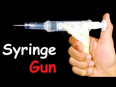 How to Make AIR GUN that Shoots   HomeMade Gun