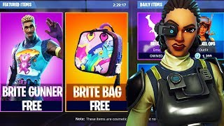 New Fortnite BRITE GUNNER and STEELSIGHT Skins FREE! New FREE Brite Bag Skin Fortnite Battle Royale!