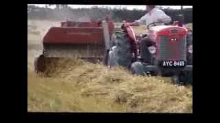 Massey Ferguson 20 Baler at work