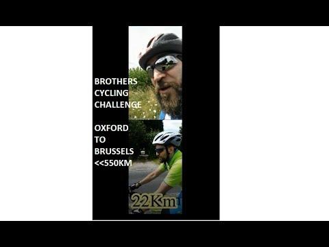 Cycle challenge Oxford to Brussels DAY تحدي الدراجة 550 كم من أكسفورد إلى بروكسل اليوم 1