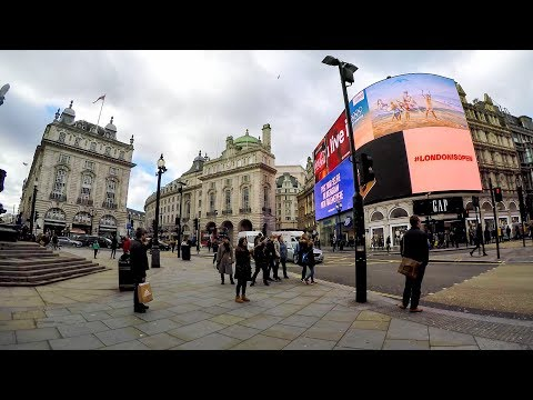 London Walk Across Soho From Tottenham Court Road to Piccadilly Circus