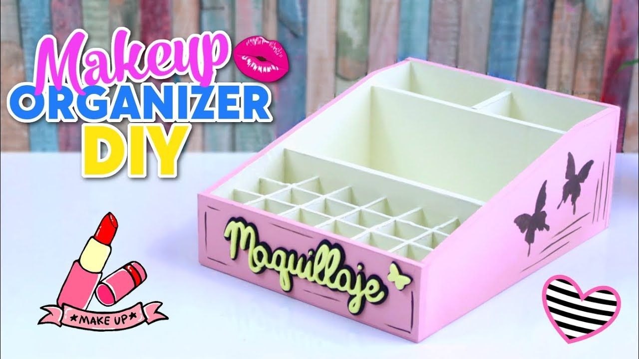 How To Make Diy Easy And Useful Makeup Organizer Made With Cardboard