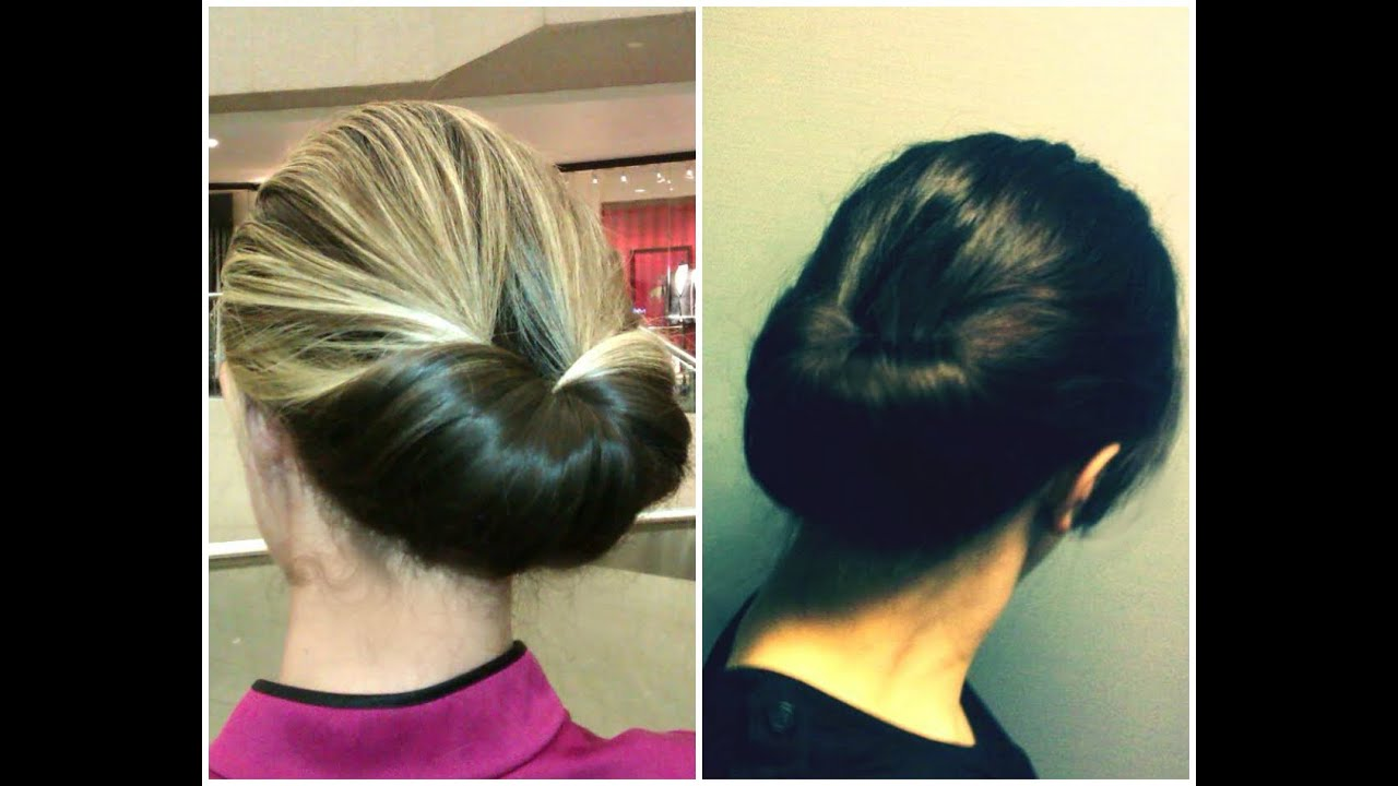 Easiest Updo Ever  the Inverted BunGibson Tuck  YouTube