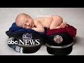 Baby honors firefighter mom, police officer dad in adorable newborn shoot