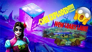 Cube Exploded - Cracked!! Qu'est-ce qui se passe ensuite! Fortnite Bataille Royale