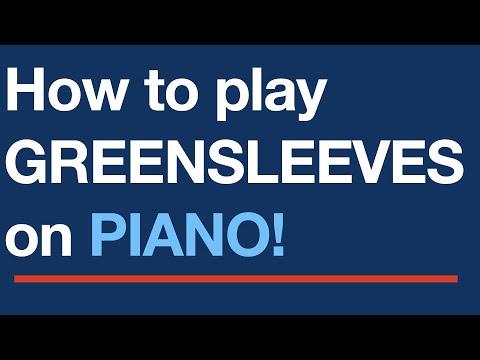 Free easy piano sheet music - Greensleeves - YouTube