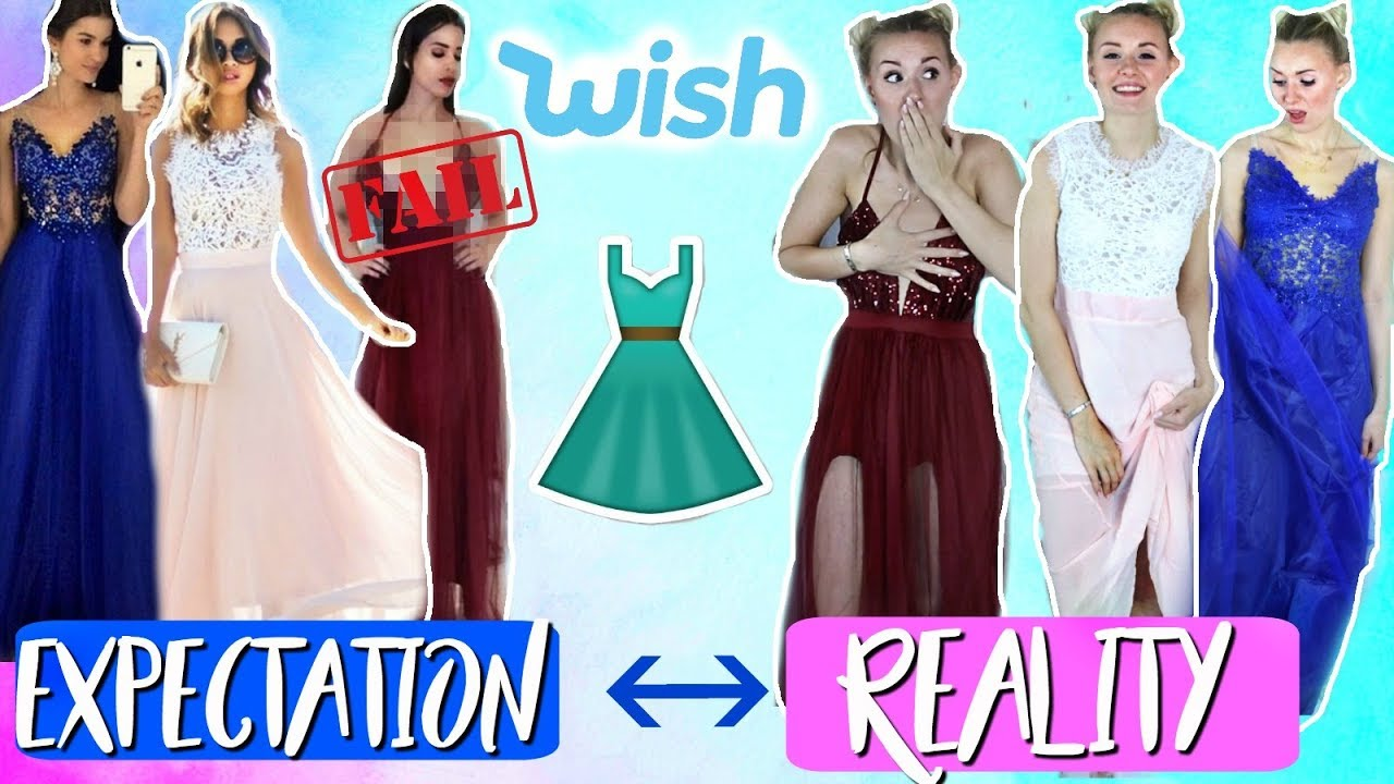 abiball kleider von wish im live test! expectation vs. reality?!