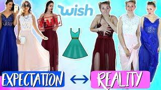 Abiball Kleider von Wish im Live Test! Expectation vs. Reality?!